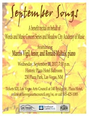 Meadow City Academy of Music September Songs Concert Program
