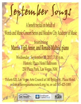Meadow City Academy of Music September Songs Concert Program