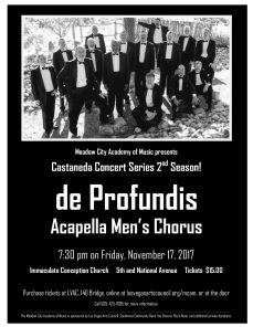 Meadow City Academy of Music de Profundis Concert Program