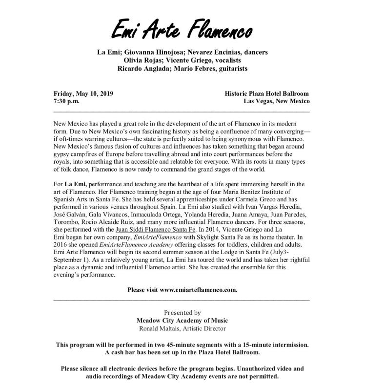 Emi Arte Flamenco Program pg 1
